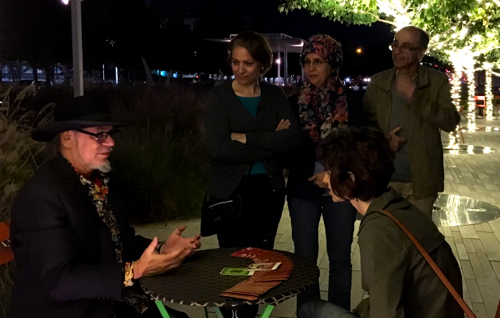 Fortune Telling in Klyde Warren Park